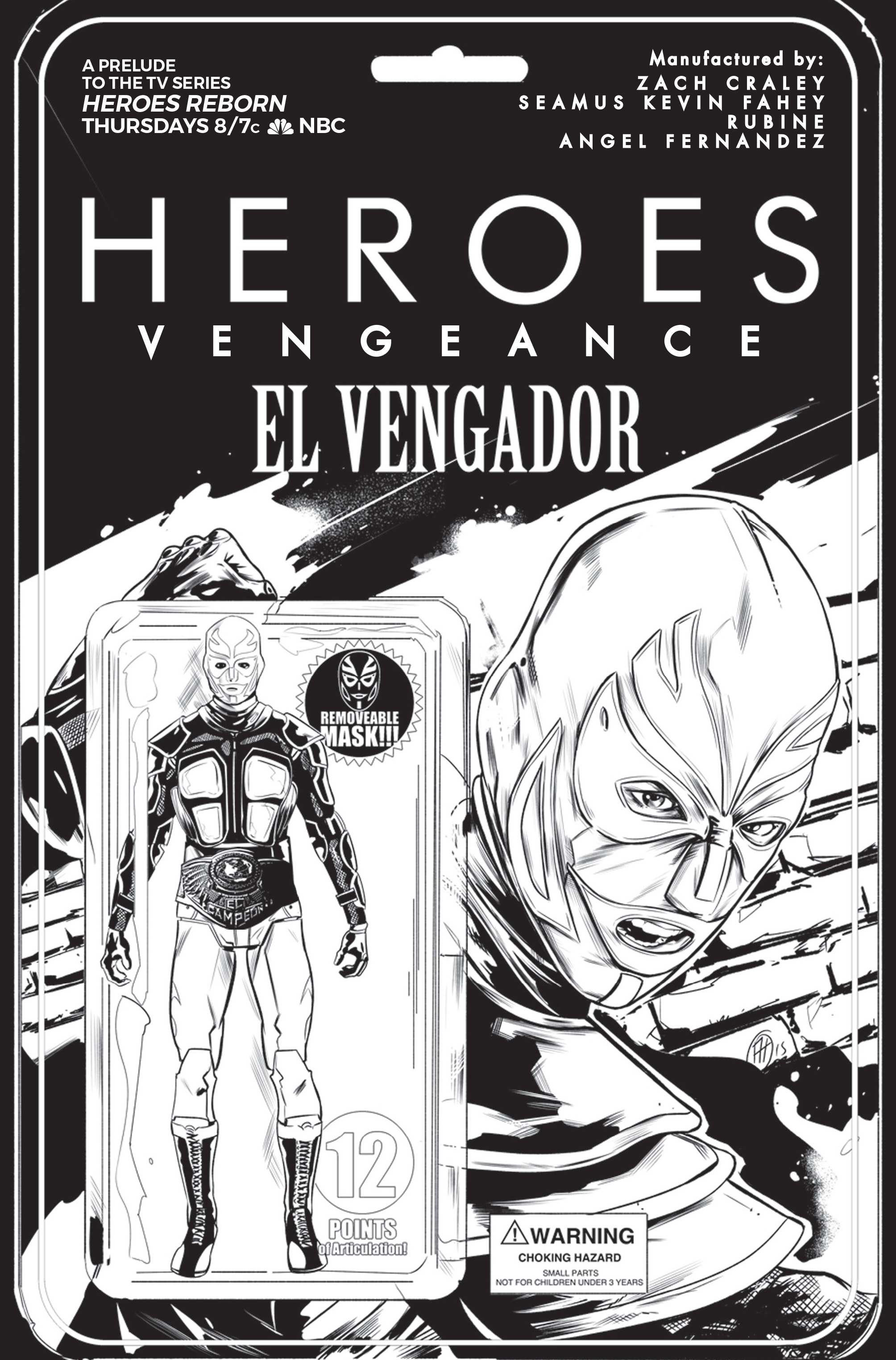 HeroesComic1_Cover_Larry's b&w