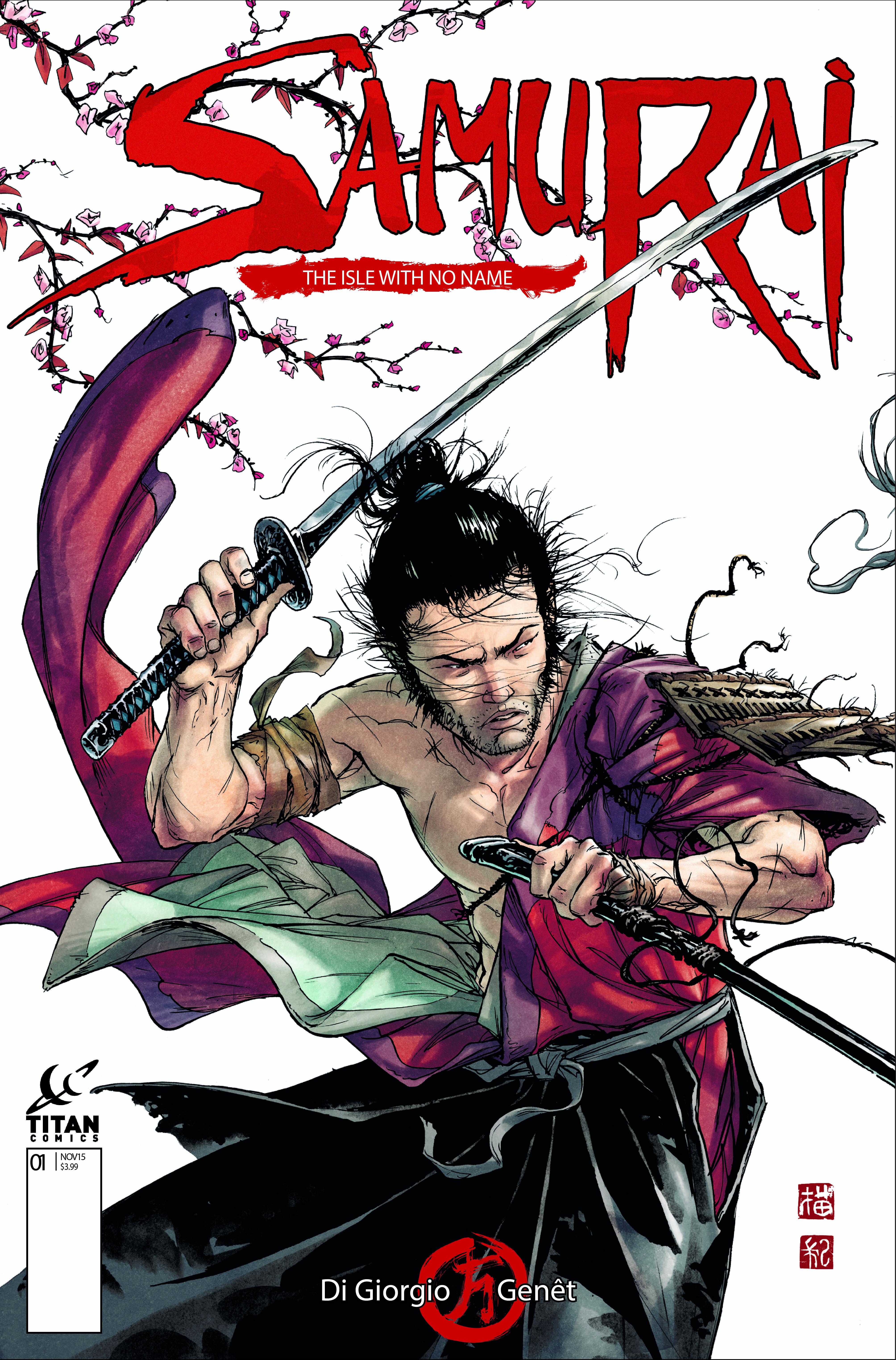 Samurai Comic_1_CoverA_Fr+¬d+¬ric Gen+¬t