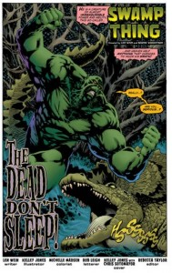 Swamp Thing 1 title page