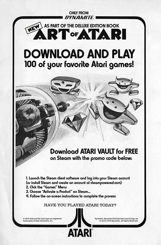 Art of Atari Steam Code Download Slip 6