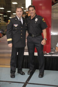 Chief Don Stephens and Lou Ferrigno