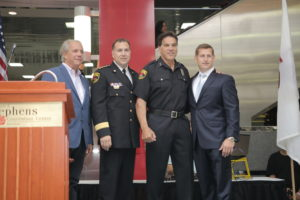 John Maatta, Chief Don Stephens, Lou Ferrigno and Chris Stephens
